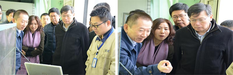 Chen Ruyi, deputy director of the Committee of information, visited Jinheng company.
